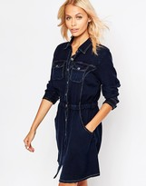 Brave Soul Long Sleeve Denim Shirt Dress
