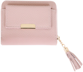 Yours Clothing Pink Textured PU Zip Around Purse With Tab Pocket & Tassel