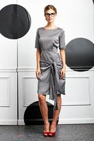 Shabby Apple Domino Tie Dress Grey