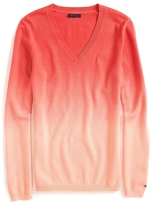 Tommy Hilfiger Final Sale-Dip Dye V Neck Sweater