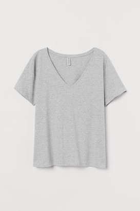 H&M V-neck T-shirt - Gray