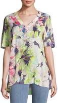 Basler Women's Short-Sleeve Floral Top