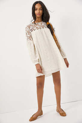 Josephine Lace Tunic Dress By Verb by Pallavi Singhee in White Size M