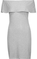 Kain Label Carys Off-The-Shoulder Ribbed Striped Stretch-Knit Mini Dress