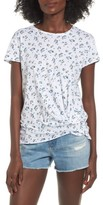 Stateside Women's Floral Print Twist Front Tee