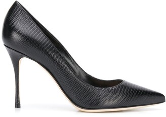 Sergio Rossi Decollete Godiva snake-effect 100mm pumps
