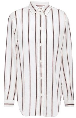 Vanessa Bruno Striped Cotton And Linen-blend Gauze Shirt