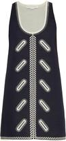 Stella McCartney Zigarette-embroidered cotton-neoprene dress