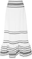 Lisa Marie Fernandez Rickrack-Trimmed Linen Maxi Skirt
