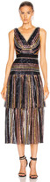 Self-Portrait Self Portrait Stripe Sequin Midi Dress in Multi | FWRD