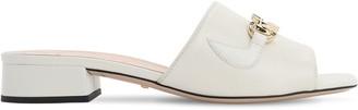 Gucci 25mm Zumi Leather Slide Flats