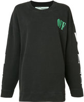 Off-White printed sweatshirt - women - Cotton - XS