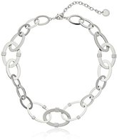 French Connection Adjustable Flat Oval Link Chain Necklace, 18""