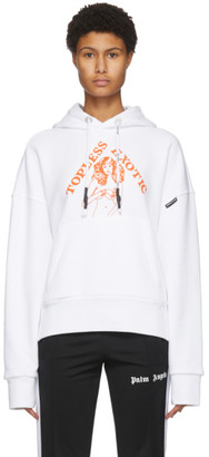 Palm Angels White Hidden Woman Hoodie