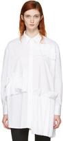 McQ by Alexander McQueen White Ruffle Tunic Shirt