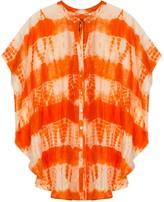 Fire Tie-Dyed Silk Kaftan Top