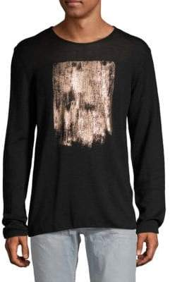 Emporio Armani Metallic Brushstroke Wool Sweater