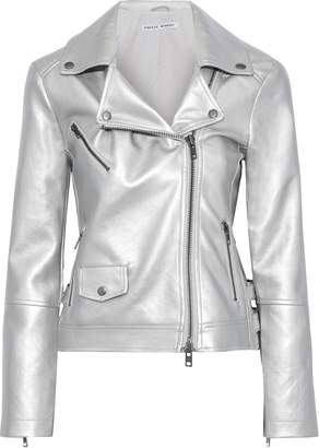 Rebecca Minkoff Hudson Metallic Leather Biker Jacket