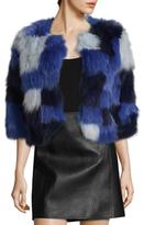 Adrienne Landau Patched Work Fox Jacket