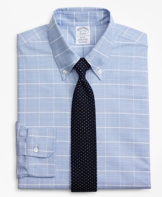 Brooks Brothers Original Polo Button-Down Oxford Regent Fitted Dress Shirt, Glen Plaid