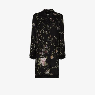 By Walid Rachel floral embroidered silk coat