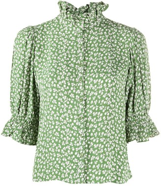 By Ti Mo Ruffled Neck Blouse