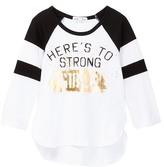 Ten Sixty Sherman Sporty Raglan Screen Tee (Big Girls)