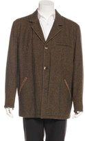 Luciano Barbera Mink-Lined Wool Coat