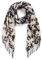 Nordstrom Women's Ultraviolet Blossoms Scarf