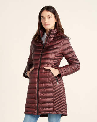 Calvin Klein Quilted Long Packable Coat