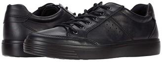 Ecco Soft Classic Lace (Black Cow Leather) Men's Shoes