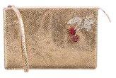 No.21 No. 21 Metallic Cherry-Embellished Clutch