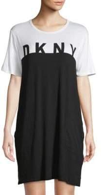 DKNY Logo Colorblock Sleepshirt