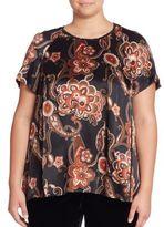 Lafayette 148 New York, Plus Size Kate Silk Paisley-Print Top