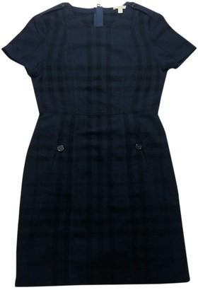 Burberry Navy Wool Dresses