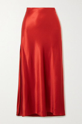 Fleur Du Mal Silk-satin Midi Skirt - Red