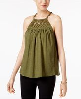 Cable and Gauge Cotton Halter Top