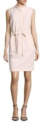 Lafayette 148 New York Belted Linen-Blend Sheath Dress