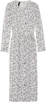 Mother of Pearl Abbey floral-print silk-crepe midi dress