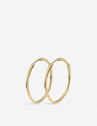 Monica Vinader Siren large 18ct gold-plated hoop earrings
