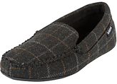 Totes Woven Check Moccasin Slippers, Charcoal