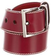 Prada Leather Buckled Belt