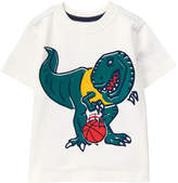 Gymboree White Dino Basketball Tee - Infant & Toddler