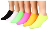 Hue Microfiber Liner 6 Pair Pack Women's Low Cut Socks Shoes
