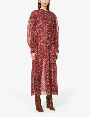 Etoile Isabel Marant Perkins floral-print cotton midi dress