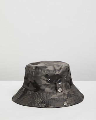Topshop Popper Twill Bucket Hat