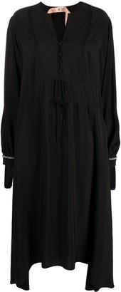 No.21 Chain-Trim Silk-Blend Dress