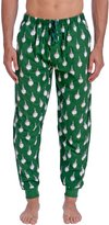 Wanted Men's Checkered Plaid Flannel Pajama Jogger Pant (Red,)