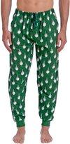 Wanted Men's Golf Print Flannel Pajama Jogger Pant (Green,)