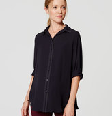 LOFT Back Pleat Utility Blouse